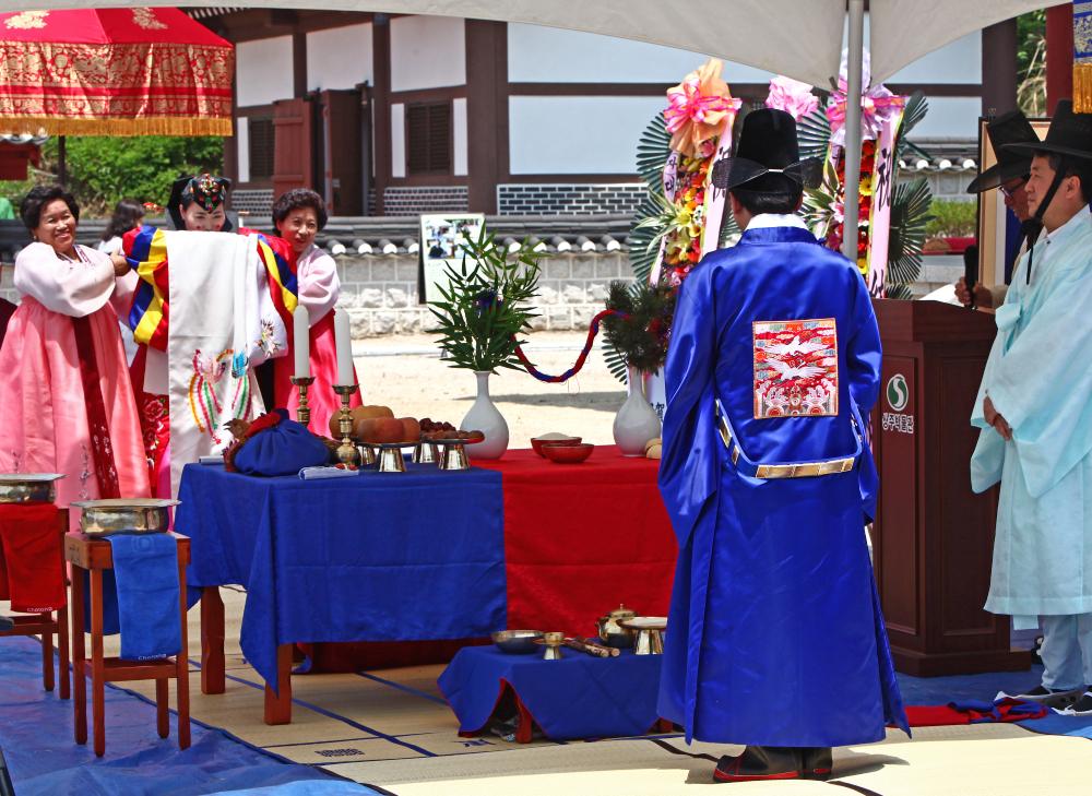 Que dites-vous d'un mariage traditionnel en Corée du Sud?